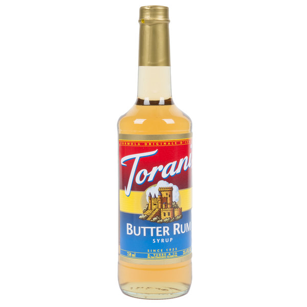 Torani 750 mL Butter Rum Flavoring Syrup