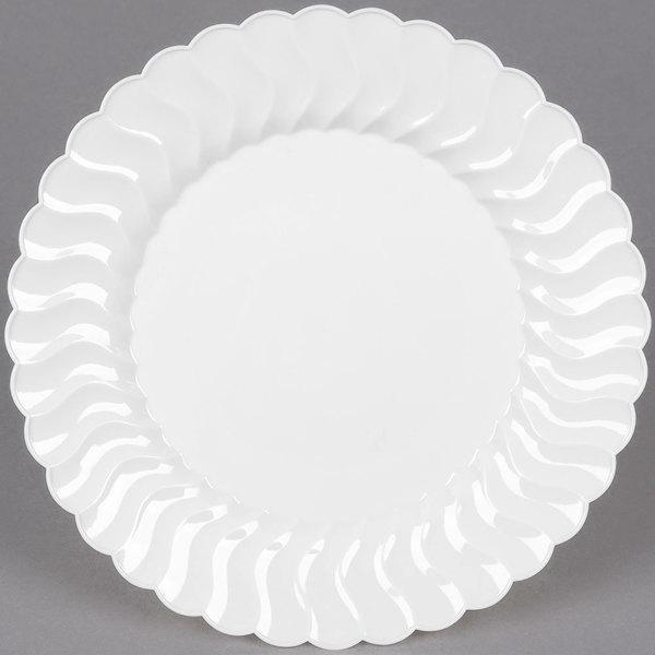 WNA Comet CW9180W Classicware 9 inch White Plastic Plate - 18/Pack