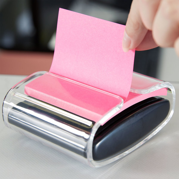 "3M WD330BK Post-it™ 3"" x 3"" Super Sticky Notes with Pop-Up Notes Dispenser - 45 Sheets"