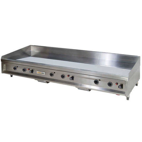 "Anets A24X72AGC 72"" Natural Gas Chrome Countertop Griddle with Thermostatic Controls - 180,000 BTU Main Image 1"