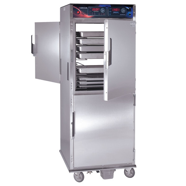Cres Cor CO-151-FPW-UA-12DX Pass-Through Roast-N-Hold Convection Oven with Deluxe Controls and AquaTemp System - 208V, 3 Phase, 8000W