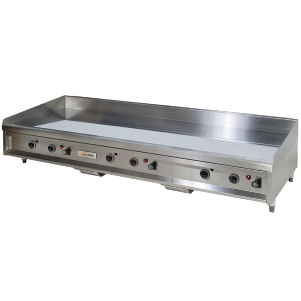 "Anets A30X72AGC 72"" Liquid Propane Chrome Countertop Griddle with Thermostatic Controls - 216,000 BTU Main Image 1"
