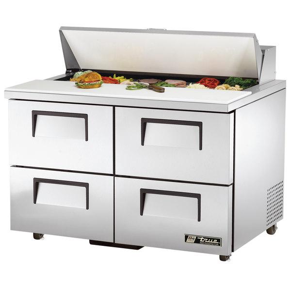 True TSSU-48-12D-4 48 inch 4 Drawer Refrigerated Sandwich Prep Table