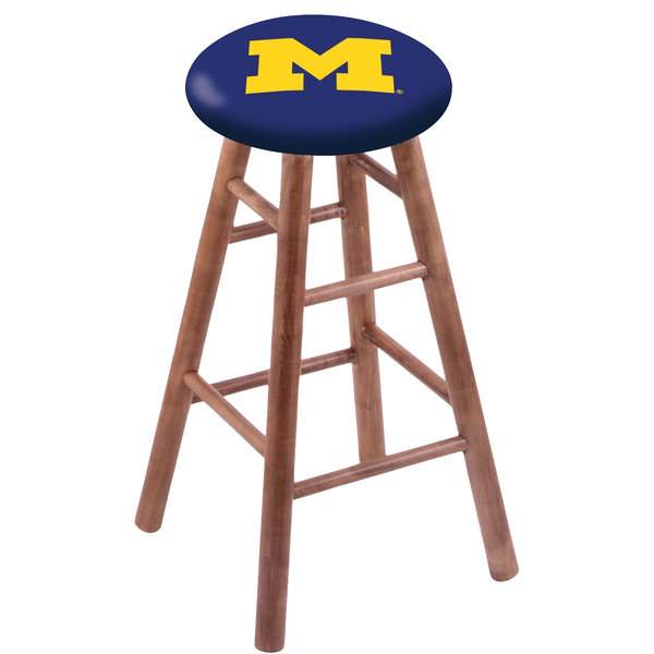 Holland Bar Stool RC30MSMedMichUn University of Michigan Wood Bar Stool with Medium Finish