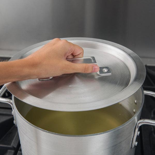 """Choice 8 1/2"""" Aluminum Pot / Pan Cover"""