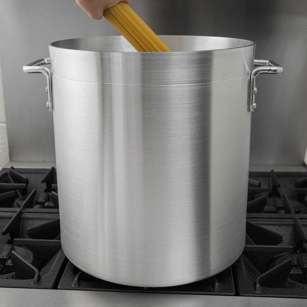 Choice 40 Qt. Standard Weight Aluminum Stock Pot