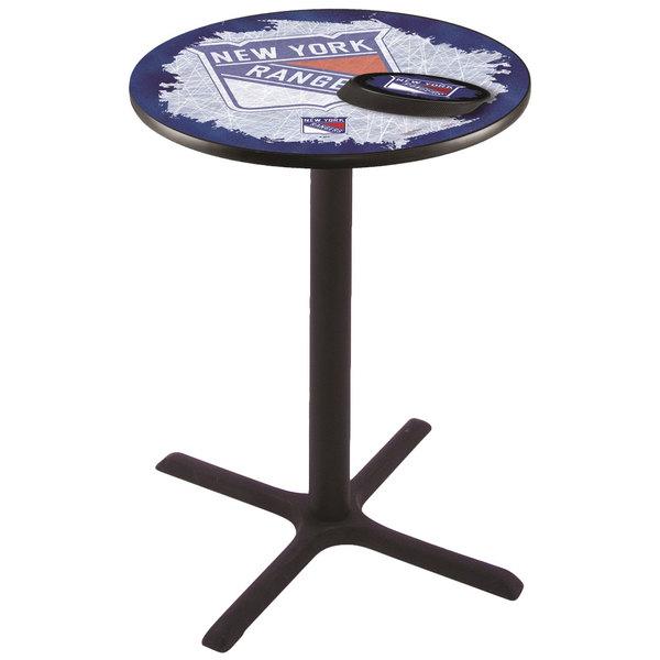 "Holland Bar Stool L211B4228NYRANG-D2 28"" Round New York Rangers Bar Height Pub Table"