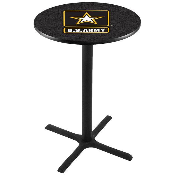 "Holland Bar Stool L211B3628ARMY 28"" Round United States Army Pub Table Main Image 1"