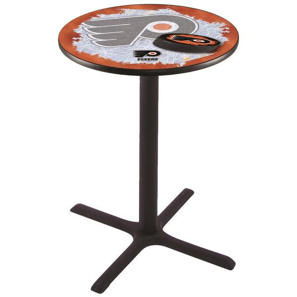"Holland Bar Stool L211B3628PHIFLY-O-D2 28"" Round Philadelphia Flyers Pub Table Main Image 1"