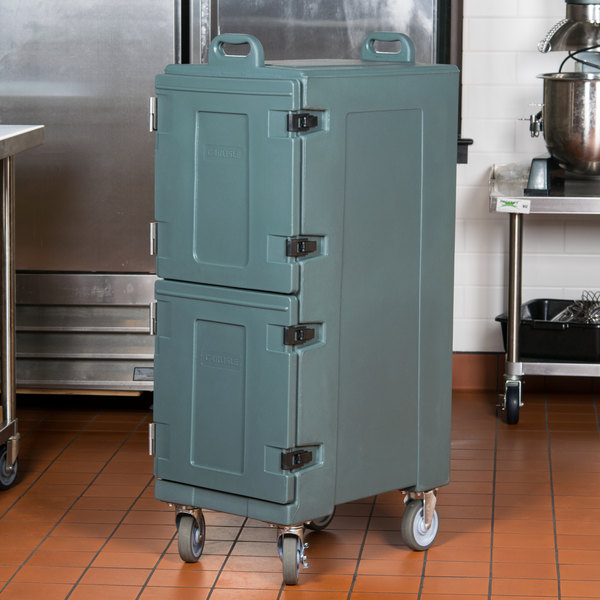"""Carlisle PC600N59 Cateraide™ Slate Blue Insulated Food Pan Carrier, 25"""" x 17"""" x 50"""" - Holds 10 Pans Main Image 4"""