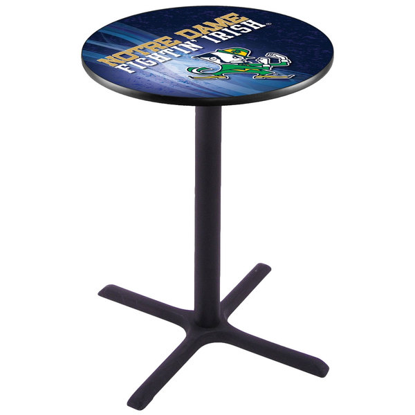"Holland Bar Stool L211B4228ND-LEP-D2 28"" Round University of Notre Dame Bar Height Pub Table"