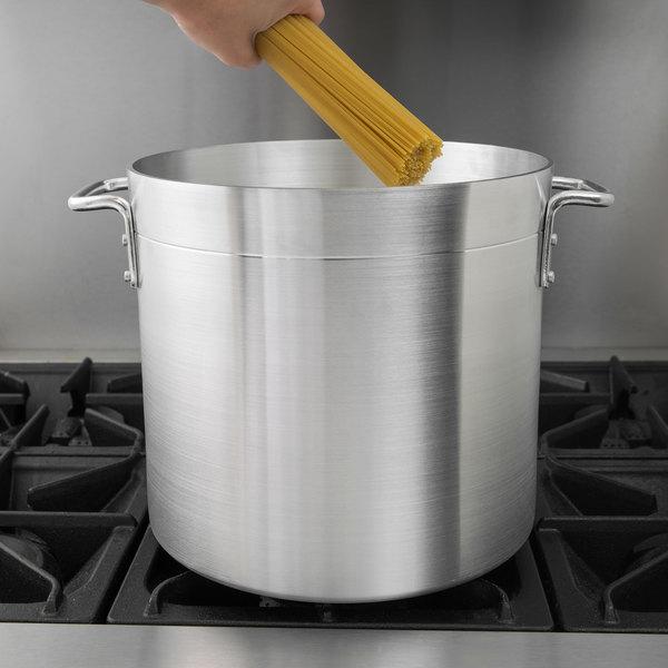 Choice 20 Qt. Standard Weight Aluminum Stock Pot
