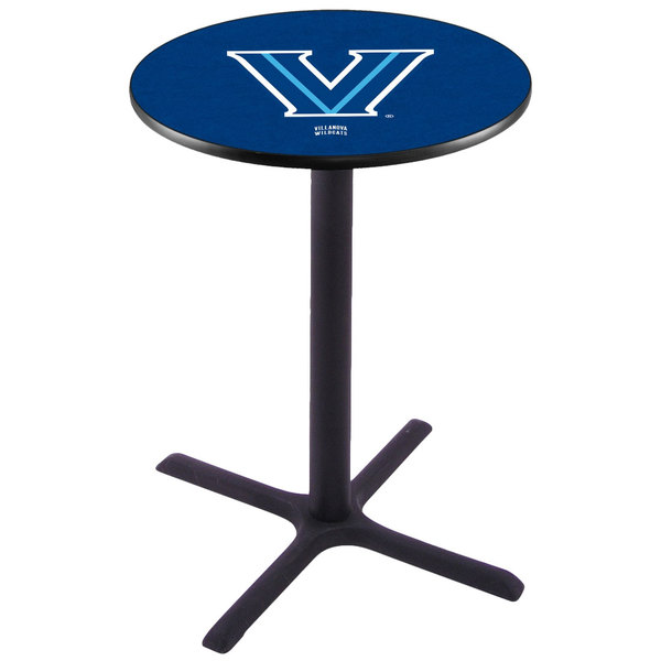 "Holland Bar Stool L211B3628VILNVA 28"" Round Villanova University Pub Table"