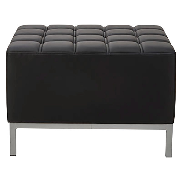 Super Alera Aleqb8216 Qub Series Black Ottoman 26 3 8 X 21 1 2 X 17 1 2 Machost Co Dining Chair Design Ideas Machostcouk