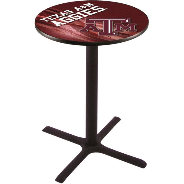 "Holland Bar Stool L211B4228TEXA-M-D2 28"" Round Texas A&M Bar Height Pub Table"