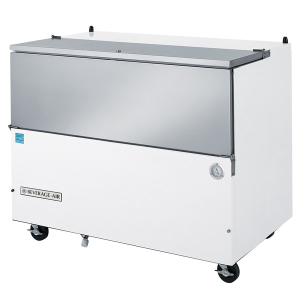 """Beverage-Air SM49N-W 49 1/2"""" White 1-Sided Cold Wall Milk Cooler"""