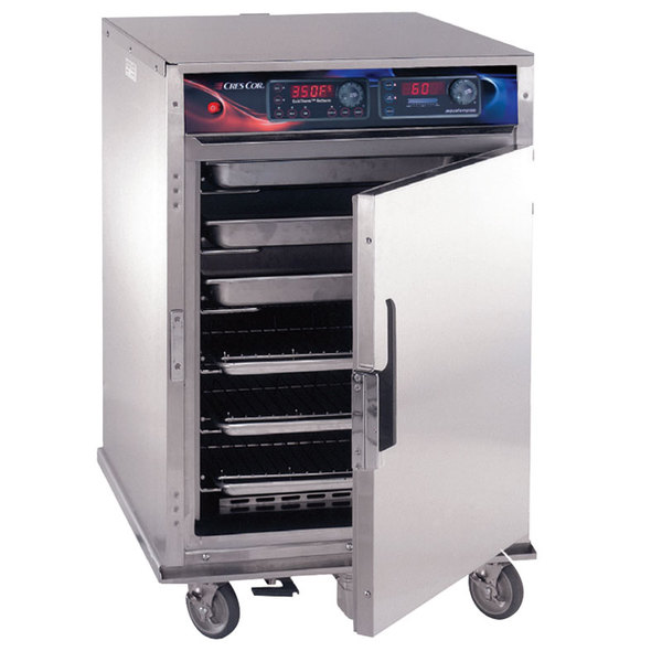 Cres Cor CO-151-HW-UA-6DX Half Height Roast-N-Hold Convection Oven with Deluxe Controls, Universal Angles, and AquaTemp System - 208V, 1 Phase, 4700W