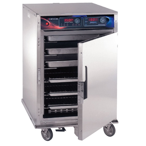 Cres Cor CO-151-HW-UA-6DE Half Height Roast-N-Hold Convection Oven with Standard Controls, Universal Angles, and AquaTemp System - 240V, 1 Phase, 4700W