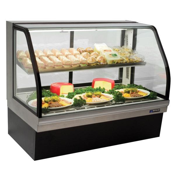 "Master-Bilt CGD-59 59"" Curved Glass Refrigerated Deli Display Case - 24.5 Cu. Ft."