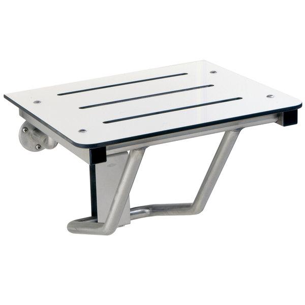 """Bobrick B-5191 18"""" Ivory Phenolic Folding Shower / Dressing Area Seat"""