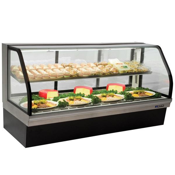 "Master-Bilt CGD-77 77"" Curved Glass Refrigerated Deli Display Case - 32 Cu. Ft."