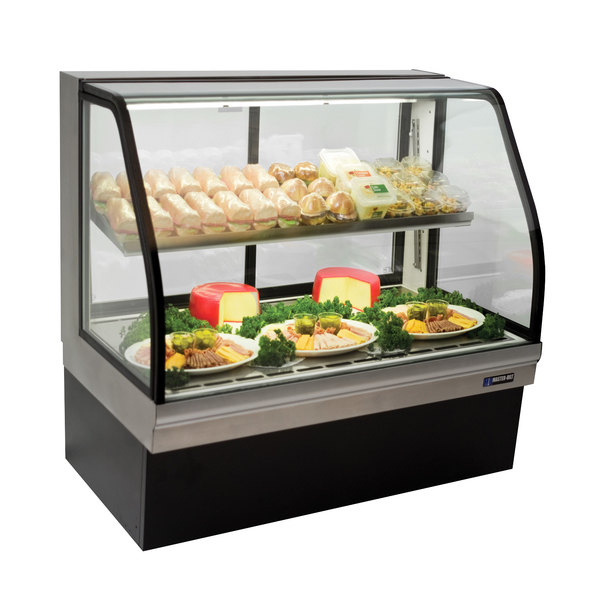 "Master-Bilt CGD-50 50"" Curved Glass Refrigerated Deli Display Case - 20.8 Cu. Ft."