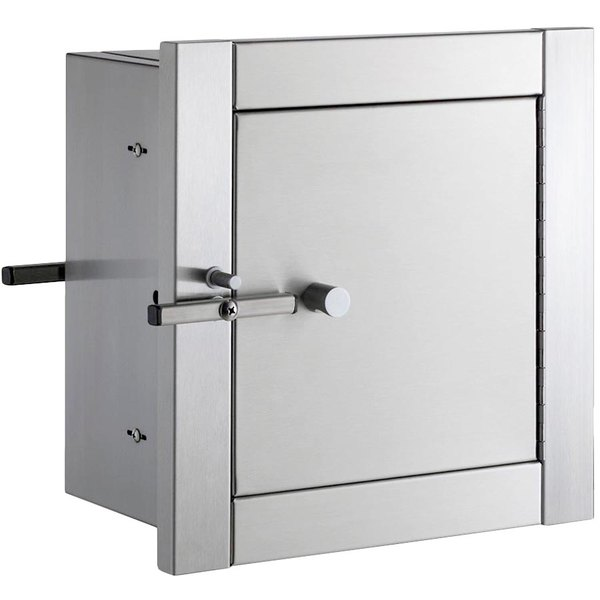 Bobrick B-50517 Stainless Steel Heavy Duty Recess Mounted Pass-Through Cabinet with Satin Finish