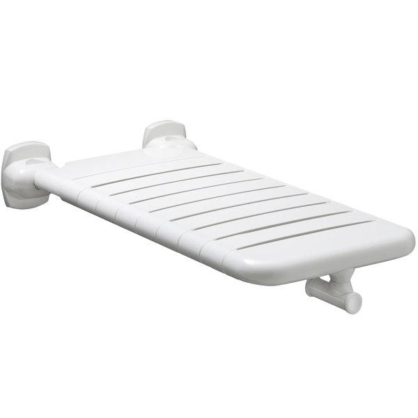 "Bobrick B-518116X32 32"" White Vinyl-Coated Folding Bathtub Seat"