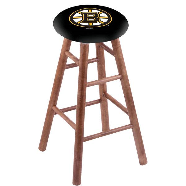 Holland Bar Stool RC30MSMedBosBru Boston Bruins Wood Bar Stool with Medium Finish