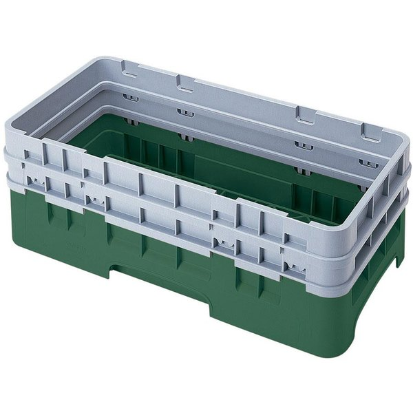 Cambro HBR578119 Sherwood Green Camrack Half Size Open Base Rack with 2 Extenders Main Image 1