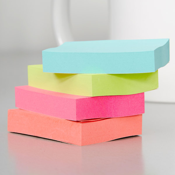 """3M 653AN Post-It® Cape Town Collection 1 1/2"""" x 2"""" Sticky Note - 12/Pack"""