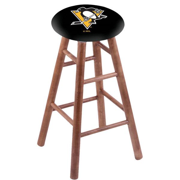 Holland Bar Stool RC30MSMedPitPen Pittsburgh Penguins Wood Bar Stool with Medium Finish