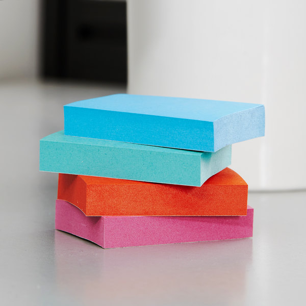 """3M 653AU Post-It® Jaipur Collection 1 1/2"""" x 2"""" Sticky Note - 12/Pack"""