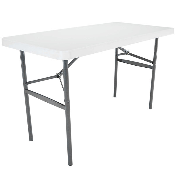 in lifetime tables ft m essential half dp fold ac granite white table
