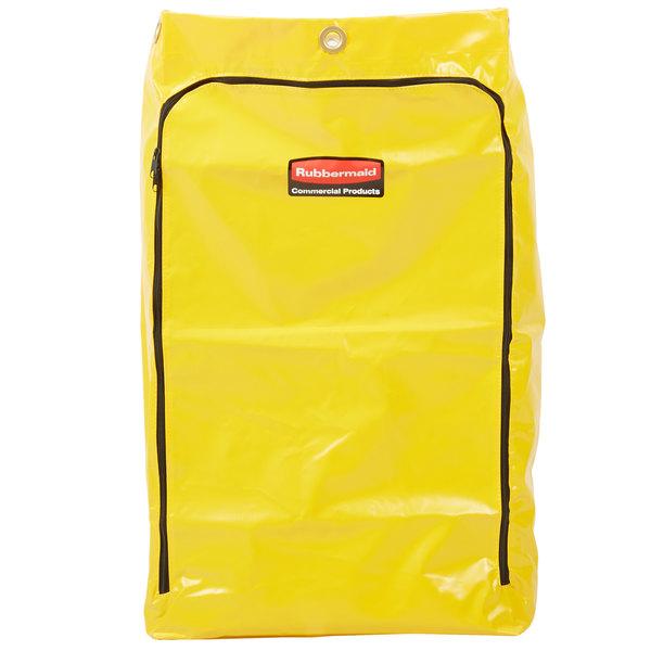 Rubbermaid 1966719 24 Gallon Yellow Vinyl Janitor Cart Bag