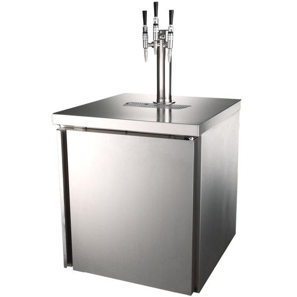 "Cornelius 621058661 NitroPro 27"" Stainless Steel Cold Brew Beverage Dispenser with Three Taps - 115V"