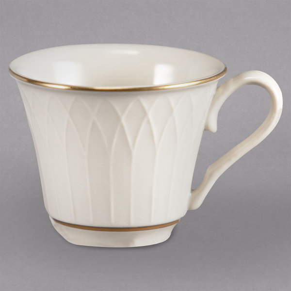 Homer Laughlin 1420-0327 Westminster Gothic Ivory (American White) 3.25 oz. China Cup - 36/Case