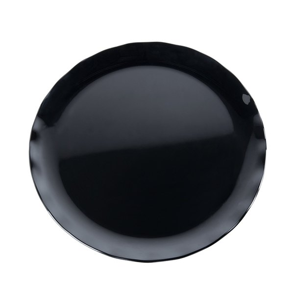 "Thunder Group RF1020BW 20"" Black Pearl Two-Tone Melamine Plate - 2/Pack Main Image 1"