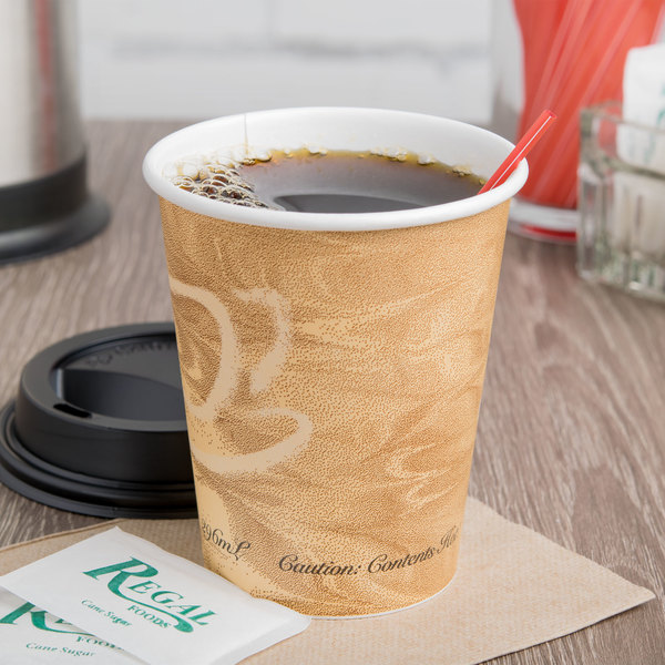 Dart Solo 370MS-0029 10 oz. Mistique Single Sided Poly Paper Hot Cup - 1000/Case