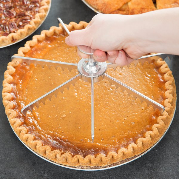 "9"" Stainless Steel 7 Cut Pie and Cake Marker / Cutter Main Image 2"