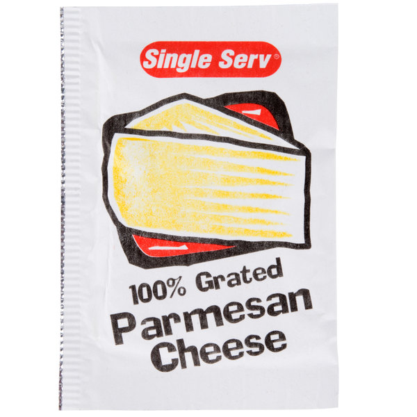 grated parmesan cheese 3 5 gram portion packet 200 case