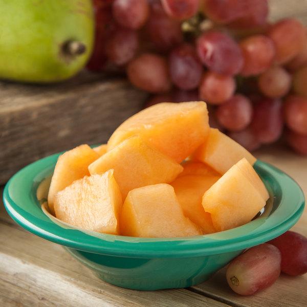 Carlisle 4304209 Durus 4 1/2 oz. Meadow Green Rimmed Melamine Fruit / Monkey Dish - 48/Case