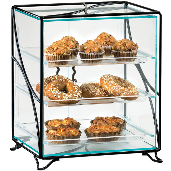 "Cal-Mil 1501-13 Glacier Three Tier Acrylic Display Case with Wire Frame - 16"" x 12"" x 19"" Main Image 1"