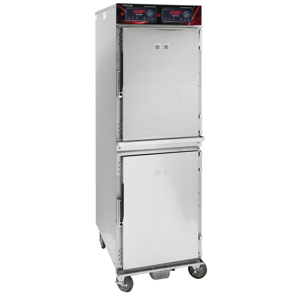 Cres Cor 1000CHSS2DE Full Height Stainless Steel Cook and Hold Oven with Standard Controls - 208/240V, 3 Phase, 6000/5300W Main Image 1