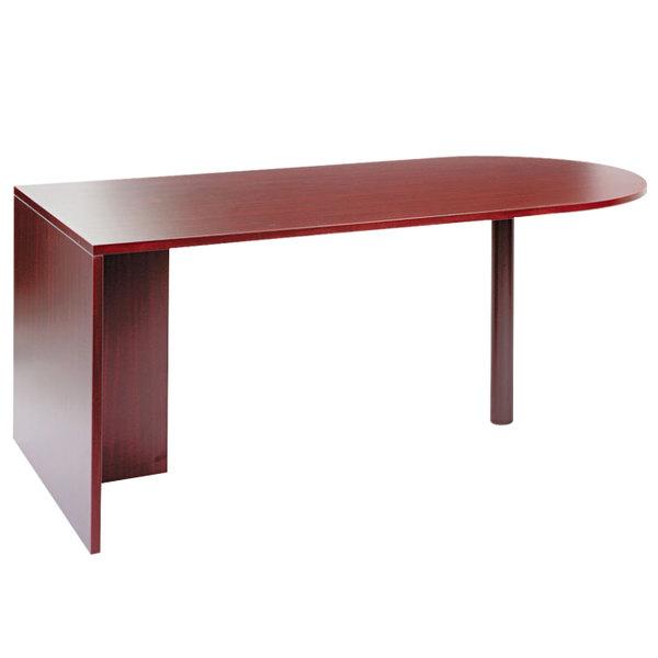 """Alera ALEVA277236MY Valencia 71"""" x 35 1/2"""" Mahogany D Top Desk"""