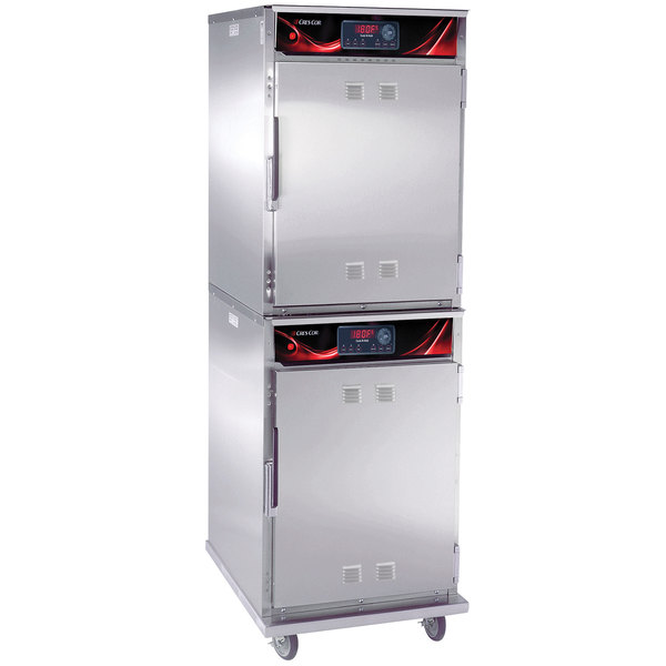 Cres Cor 1000-CH-SPLIT-STK-SK-DX Full Height Stainless Steel Cook and Hold Smoker Oven with Deluxe Controls - 208/240V, 1 Phase, 3000/2650W