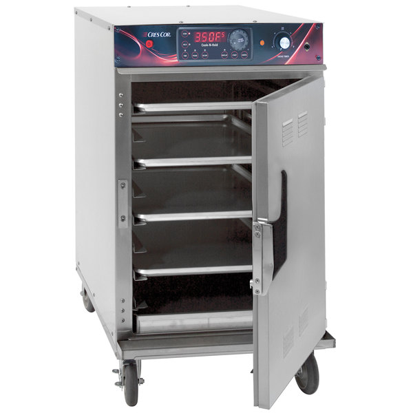 Cres Cor 1000-CH-SPLIT-SK-DX Half Height Stainless Steel Cook and Hold Smoker Oven with Deluxe Controls - 208/240V, 1 Phase, 3000/2650W