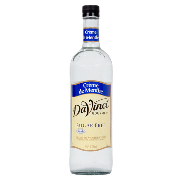 DaVinci Gourmet 750 mL Sugar Free Creme de Menthe Flavoring Syrup