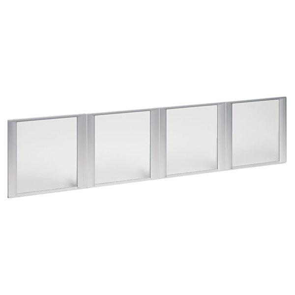 Alera ALEVA301730 Four Glass Door Set with Silver Frames Main Image 1