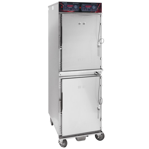 Cres Cor 1000CHSS2DX Full Height Stainless Steel Cook and Hold Oven with Deluxe Controls - 208/240V, 1 Phase, 6000/5300W Main Image 1